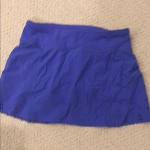 Ivivva girls run skirt skort 8 purple laser cut